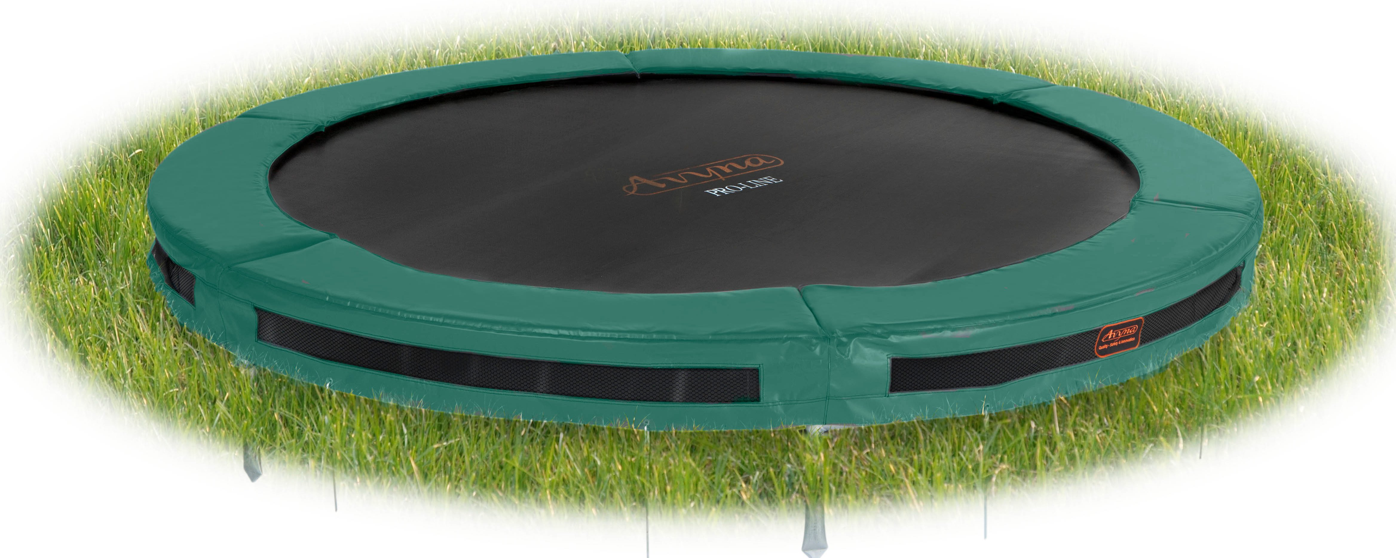trampoline in ground