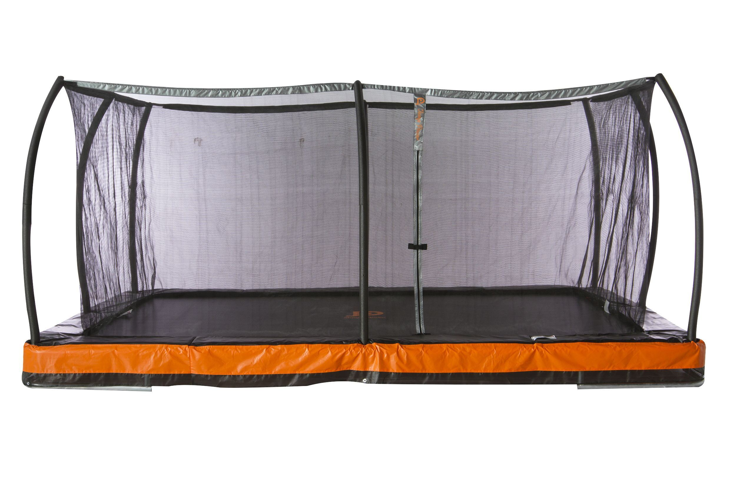 rectangular trampolines with enclosure