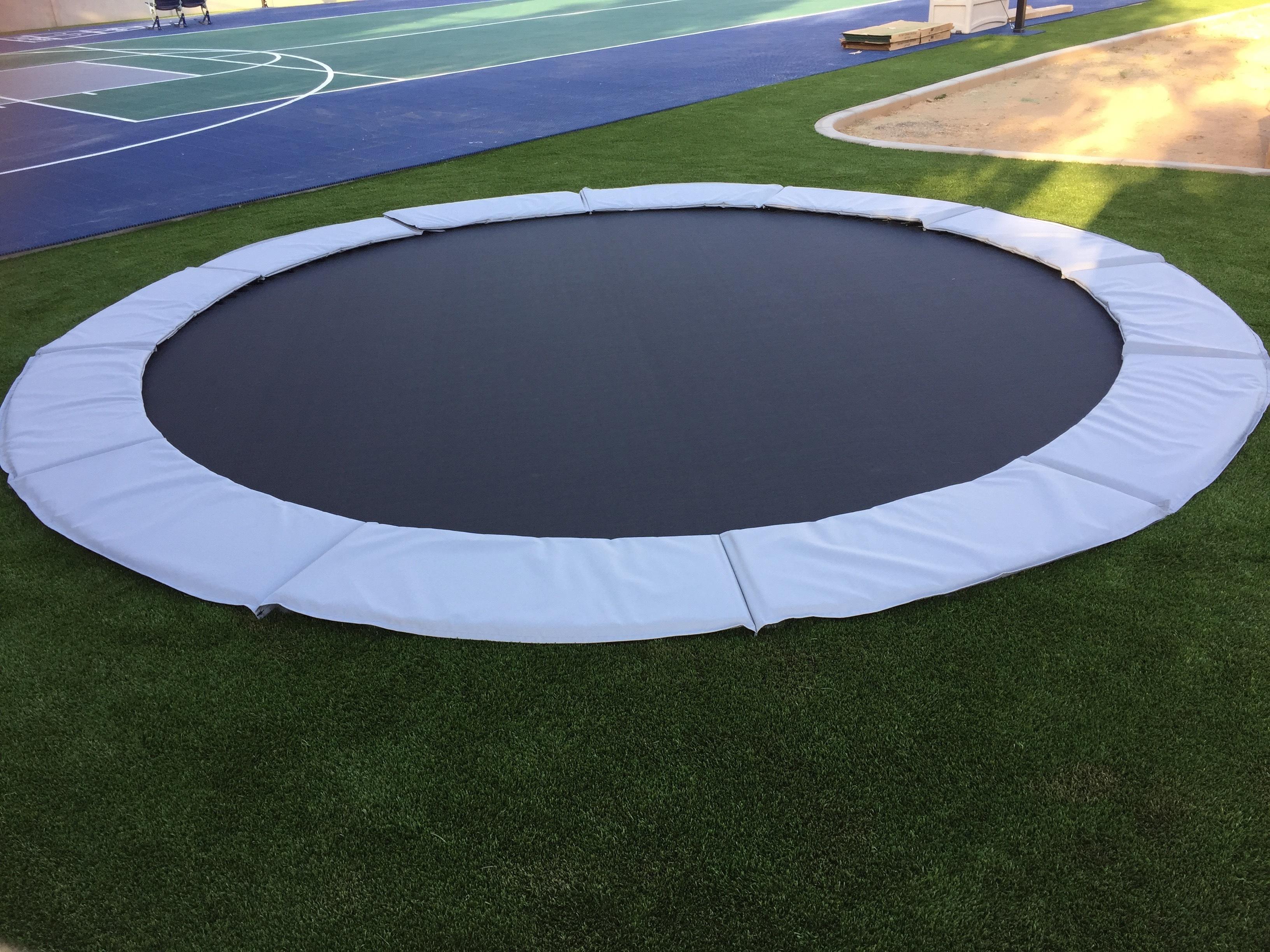 in ground trampoline installation